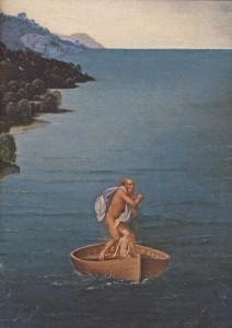 Charon traverssant le Styx. détail. Patinir. Prado. 1520-24